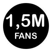 1,5 Millions de Fans sur Facebook